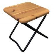 Табурет складной с деревянным сиденьем